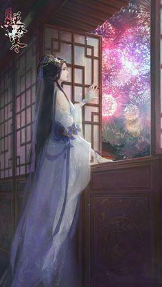 Beautiful Fantasy Art, Beautiful Anime Girl, Chinese Drawings, Chinese Art, Anime Art Girl, Manga Art, Chinese Cartoon, Art Asiatique, Sarada Uchiha