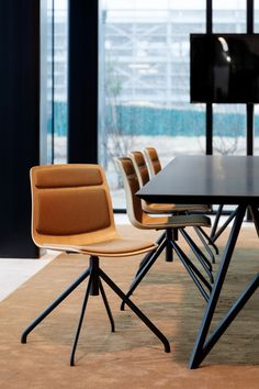 awesome 48 Comfy Wood Steel Chair Design For Dining Room Commercial Interior Design, Office Interior Design, Office Interiors, Office Designs, Modern Office Decor, Home Office Decor, Office Ideas, Modern Offices, Home Decor
