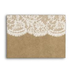 The Kraft & Lace Wedding Collection Envelopes