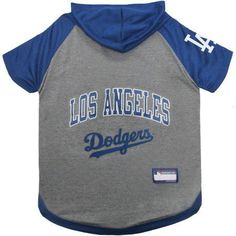 Pets First MLB Los Angeles Dodgers Hoodie Tee Shirt, Multicolor