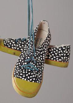 Gerberis Cotton Twill Sneakers via Gudrun Sjödén