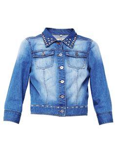 Love LabelDenim Stud Collar Jacket | Very.co.uk