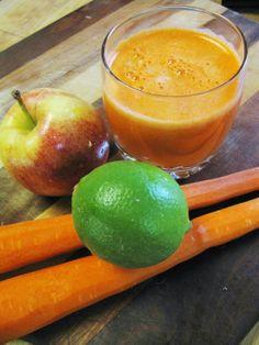 Apple, carrot, lime.  Serves 1: This Rawsome Vegan Life