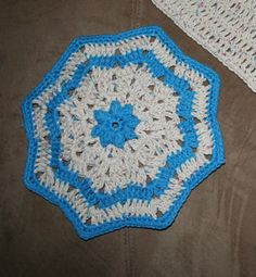 Round Ripple Dishcloth -- I have made several of these and still do not have one of my own.  Need to remedy that.  I just ordered a bunch of cotton thread so I will soon be busy on them again.