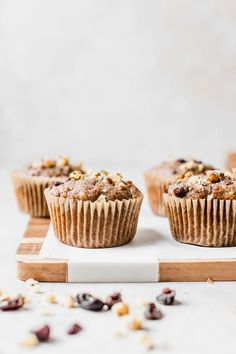 These vegan morning glory muffins are made with whole wheat flour and loaded with carrots apples and a walnut nut and fruit blend for the best texture. Healthy Muffin Recipes, Vegan Breakfast Recipes, Healthy Desserts, Vegan Meals, Vegetarian Recipes, Morning Glory Muffins, Plant Based Breakfast, Baking Muffins, Breakfast Bake
