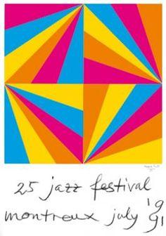 Max Bill: Montreux Jazz Festival, jazz festival montreux july Originalentwurf, Farbserigraphie 100 x 70 cm Drucker: Albin Uldry, Bern . Festival Jazz, Montreux Jazz Festival, Festival Posters, Max Bill, Frank Stella Art, Jazz Poster, Concrete Art, Grafik Design, Wassily Kandinsky