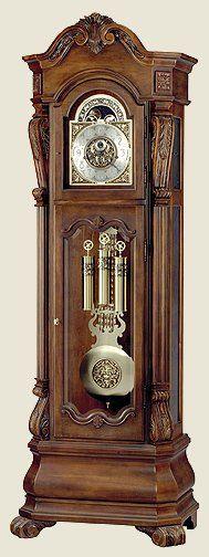0012126Trieste Floor Clock Distressed Trieste Clocks and