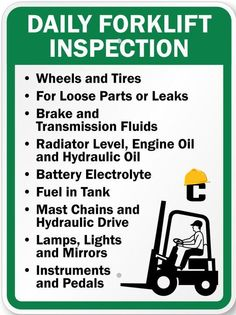 Below are some simple #tips to follow to ensure #safe operation of forklifts.