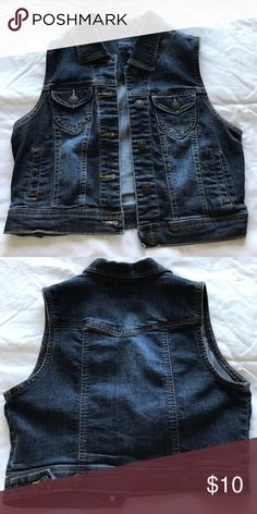 Denim Vest This vest is very cute! I use to wear it over a long sleeve shirt and call it a day! Jackets & Coats Vests