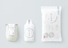 Minimalist Japanese rice packaging design by Ed-ing:Post
