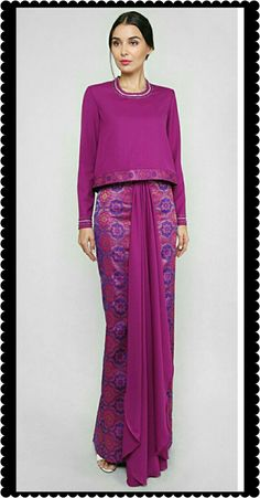Kebaya Dress, Dress Pesta, Sari Dress, The Dress, Muslim Fashion, Ethnic Fashion, Hijab Fashion, Fashion Dresses, Style Fashion