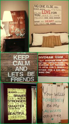 15 DIY Pallet #Signs and Wall Art Ideas - 99 Pallets