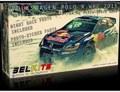 The Belkits 1/24 Volkswagen Polo R WRC Red Bull 2015 Model Kit from the plastic car model kits range accurately recreates the real life rally car. This model requires paint and glue to complete.  We also stock the full range of Tamiya Paints, Glues and Modelling Accessories required to complete this model.