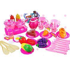 54pcs+Cooking+Cutting+Fruit/Vegetables+Pretend+Play+Toys+DIY+Toys+Set+–+USD+$+15.99