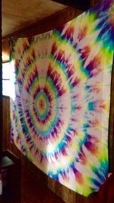 630e1dde51a4 Bullseye tie dye tapestry by TheCraftShack247 on Etsy Tie Dye Tapestry