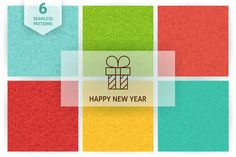 New Year Line Seamless Patterns ~ Patterns on Creative Market