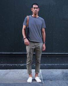 New York City Street Style by Ben Ferrari: Style: GQ  this guy sort of wears it poorly, but love the idea