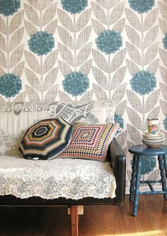 Modern Retro Shabby Chic by decorology, via Flickr (maybe a little too modern? but I like the mixture of textures)