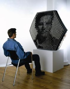 Shiny Balls Mechanical Mirror by Daniel Rozin Interactive Art