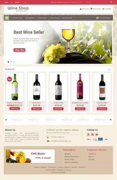 Wine Shop OpenCart Theme is specially wine, drink, food and restaurant store. Great colors combination. All sub pages are customized. It is very nice with its clean and professional look.