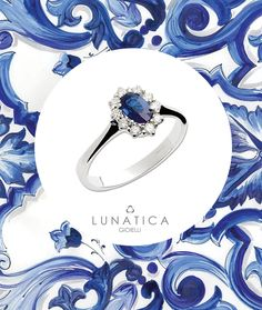 #lunatica #lunaticagioielli #gioielli #italianjewellery #madeinitaly #handmade #madewithlove #precious #stone #sapphire #zaffiro #diamonds #diamanti #ring #anello #collezione #collection #margherita #pattern #blue #white #colour #summer #blu #trend #fashion #lovers #rome #roma