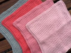 by GJ: DIY - Strikket karklud # 3 - Perlerib Tunisian Crochet, Knit Crochet, Homemade Potholders, Knitting Stitches, Knitting Patterns, Crochet Designs, Needle And Thread, Washing Clothes, Home Crafts