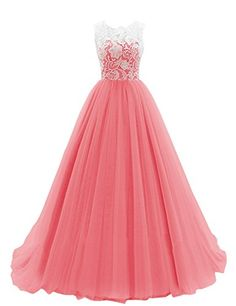 Dresstells Women's Long Tulle Ball Gowns Wedding Dress Evening Formal Party Maxi Dress Coral Size 6 Dresstells http://www.amazon.co.uk/dp/B00R7ILZUW/ref=cm_sw_r_pi_dp_2Skfvb1P3RWCT