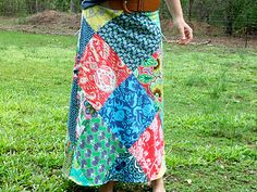 Patchwork skirt from Amy Butler fabric