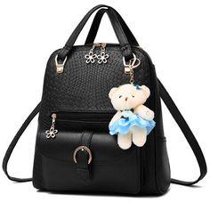 Beiläufig Prägung Rucksack Blumen-Zipper Behr Einfarbig Handtasche from Atwish.com.<3<3<3