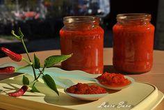 Pasta de ardei cu rosii Pickles, Salsa, Canning, Food, Meal, Salsa Music, Restaurant Salsa, Essen, Pickle