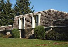 Modern house exterior mansard style roof ideas attic for Modern mansard roof