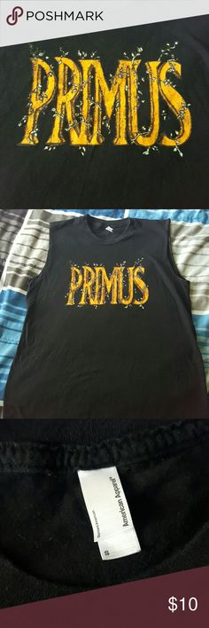 Sleeveless Primus t-shirt Got this year's ago but didn't wear it much. Still a lot of life left in it. American Apparel Tops Muscle Tees