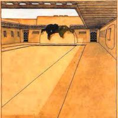 This beautiful drawing was done in 1915 by Rudolph Schindler, an architect in Taos, New Mexico. It was part of a proposal for an adobe home for a local doctor, Paul Martin.