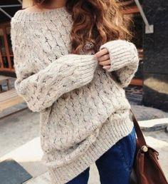 свитер крупной вязки - Поиск в Google