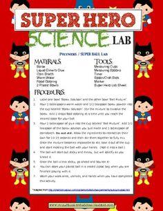 Super Hero Science & Literacy by Teacher Allison Superhero School Theme, Superhero Preschool, Superhero Academy, Preschool Science, Teaching Science, Science Activities, Super Hero Activities, School Wide Themes, Super Hero Day