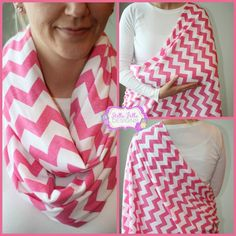 Hold Me Close Nursing Scarf Pink Chevron, Nursing Cover, Infinity Scarf for moms- brilliant!!!