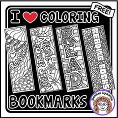 Free coloring book marks! Great way to de-stress after testing or just for fun!