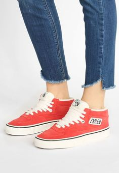 Vans HALF CAB - Baskets montantes - red rouge. Adidas 80a2a2fef62