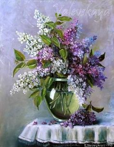 Painting «And again the lilacs Lilac Painting, Oil Painting Abstract, Watercolor Paintings, Flower Vases, Flower Art, Vj Art, Art Painting Gallery, Beautiful Flowers Wallpapers, Lilac Flowers