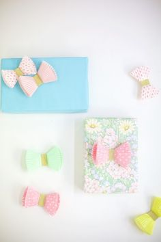 How to make cupcake paper bows
