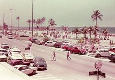 Praia de Ipanema, Rio de Janeiro - 1970's.