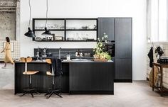 living room ideas – New Ideas Kitchen Interior, Diy Kitchen Remodel, Black Kitchens, Cosy Interior, Interior, Kitchen Remodel, Kitchen Decor, Kitchen, Home Kitchens