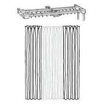 extra long curtain rods traverse and plain combination 100-180