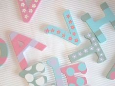 Decorated Wooden Letters - Uppercase