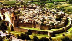 Cidade medieval de Carcassone na França.
