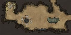 ArtStation - Dungeon Maps: Nesting place & uncovered ancient stones. , Michael Fitzhywel
