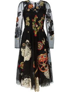 Dolce & Gabbana embroidered mesh dress