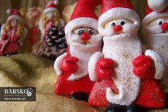 Mikołaje z masy solnej Salt Dough, My Works, Santa, Christmas Ornaments, Holiday Decor, Christmas Jewelry, Christmas Decorations, Christmas Wedding Decorations
