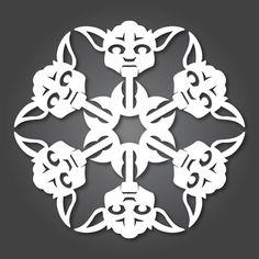 Star Wars Snowflakes: YODA