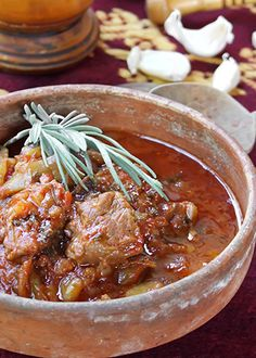 Pot of mutton and beef _ Serbian Cuisine